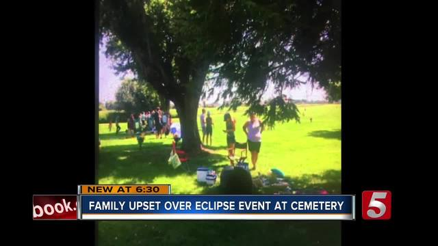 Family Upset Over Eclipse Watch Event At Cemetery