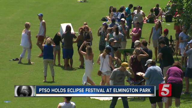Metro Students- Families Watch Solar Eclipse At Festival