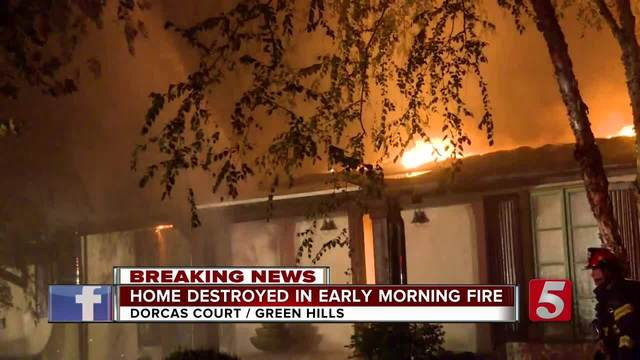Fire Destroys Home In Green Hills