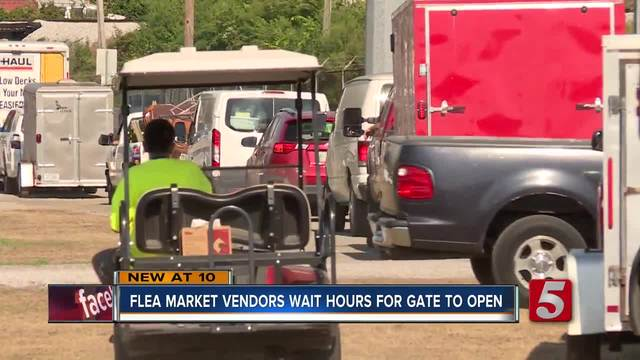 Vendors Wait Hours In The Heat For Fairgrounds To Open