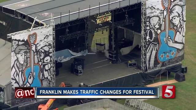 Franklin Traffic Changes For Pilgrimage Festival