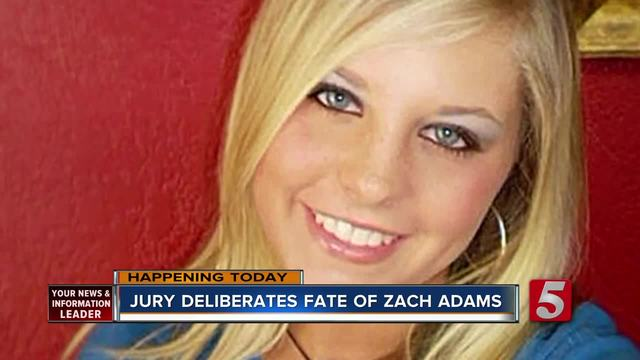Jury Deliberates Fate Of Zach Adams