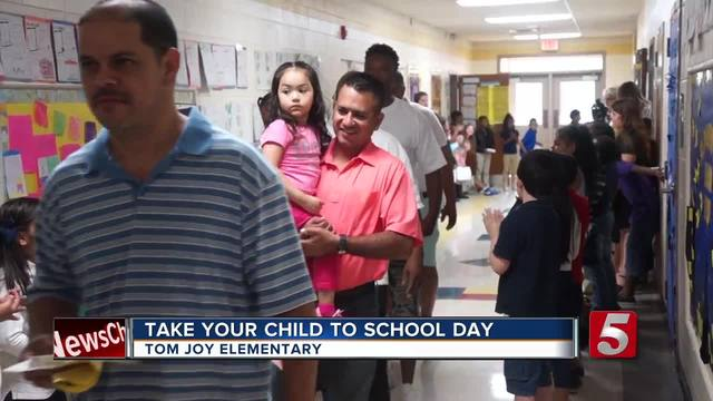 Fathers- Students Enjoy -Take Your Child To School Day-