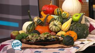 Twice-Baked Acorn Squash with Kale and Sausage