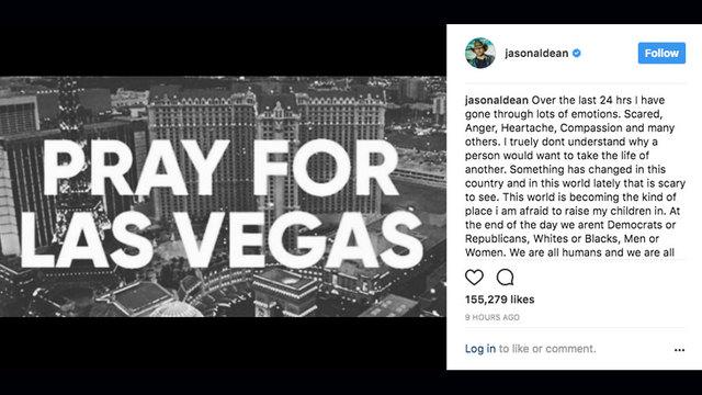 Singer Jason Aldean calls Las Vegas shooting 'horrific'