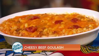 Monell's Cheesy Beef Goulash