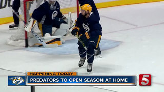 Plaza Party Kicks Off Predators' Home Opener