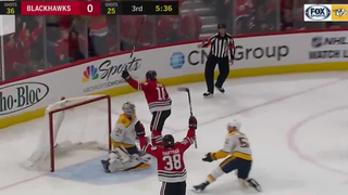 Saad's OT Goal Lifts Blackhawks Over Preds 2-1
