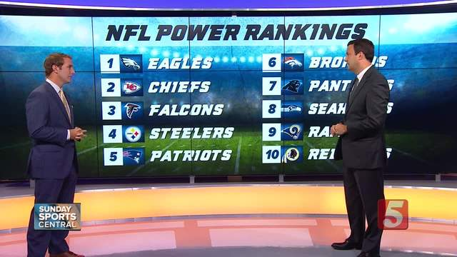 Checking The NFL Power Rankings Before Titans Take On Colts