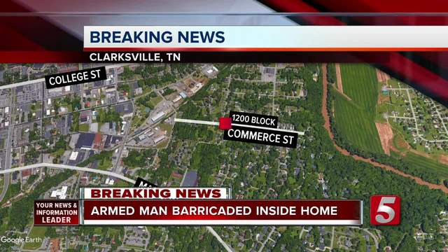 Armed Man Barricaded In Clarksville Home