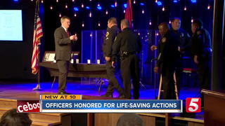 Officers Honored For Saving Deputy's Life