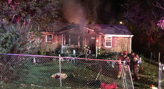 Columbia Firefighters Fight House Fire