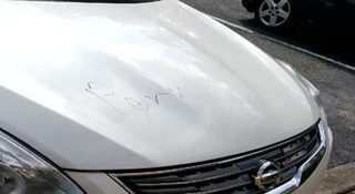 'Porn' Drawn On Several Hermitage Vehicles