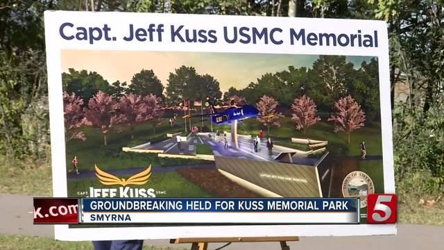 Groundbreaking Ceremony Held For Jeff Kuss Memorial