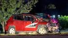 Man Crashes Into 2 Power Poles, Traffic Light