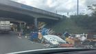 Truck Spills Load On I-40W In Nashville
