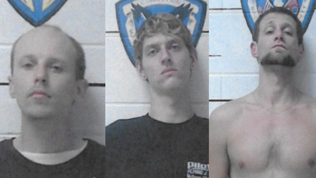1 escaped inmate arrested; 2 others remain at large