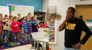 Class gives birthday surprise to deaf custodian