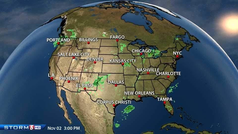 National Weather Map : National radar