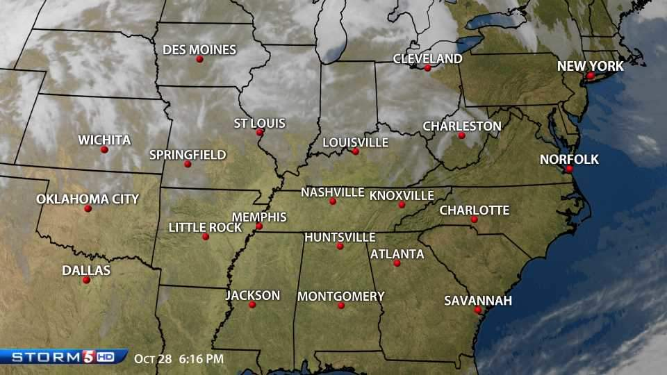 Newschannel 5 view Southeast Radar