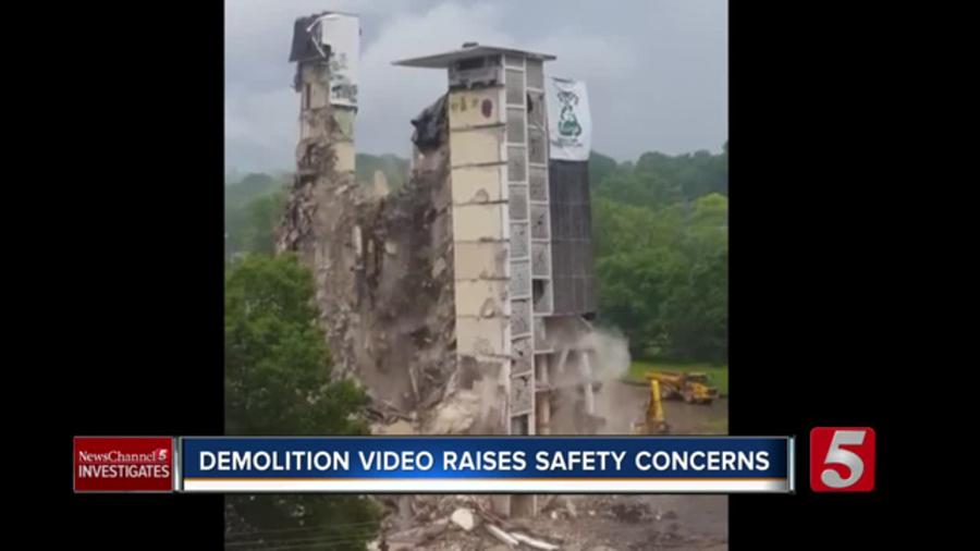WATCH: Demolition Video Raises Safety Concerns - NewsChannel 5 Nashville
