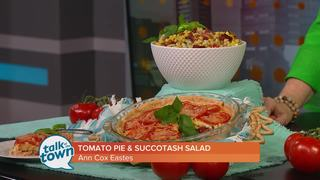 Southern Tomato Pie and Succotash Salad