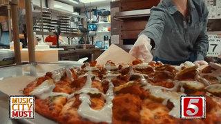 Donatos Nashville-Inspired Hot Chicken Pizza