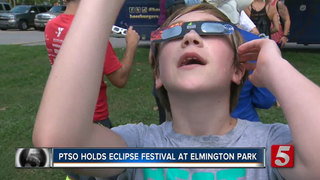 Metro Kids, Families Watch Eclipse At Festival
