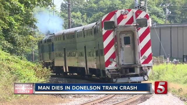 pedestrian hit  killed by music city star train
