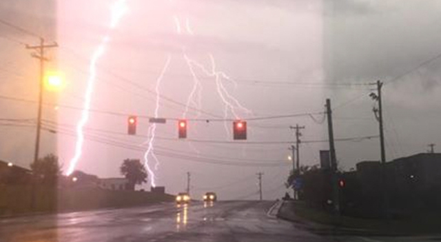 severe weather causes flash flooding  prompts tornado warnings