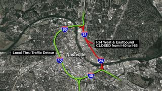 I-24 Final Weekend Closure Held For Bridge Work