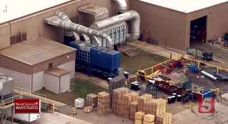 Fire Damages Tenneco Plant