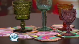 Handmade Home DIY Project: Marbelized Coasters