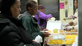 Thanksgiving Dinner Held In Edgehill