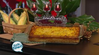 Honey Jack Corn Pudding & Cranberry Chutney