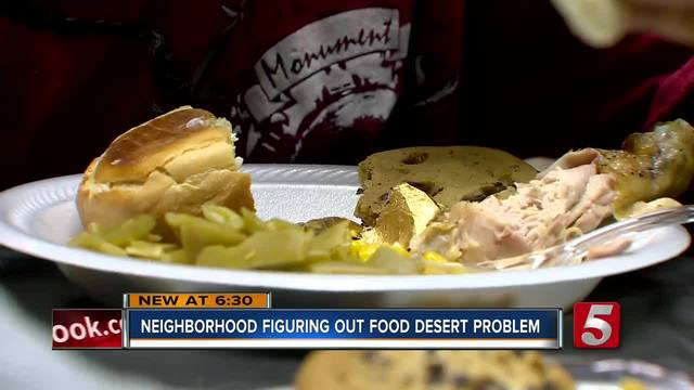 Thanksgiving Held Amid Edgehill Food Desert
