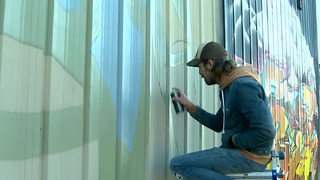 Artists Paint Nashville Murals On Thanksgiving