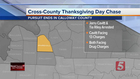Driver Leads Police On Thanksgiving Day Chase