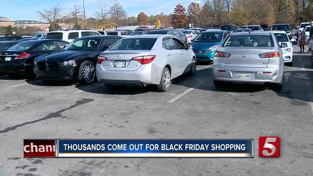 Black Friday Shoppers Deal With Crowded Stores- Parking Lots