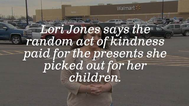 lori jones and her husband stopped at the dickson walmart wednesday night to pick out christmas gifts for their two children but in the layaway line