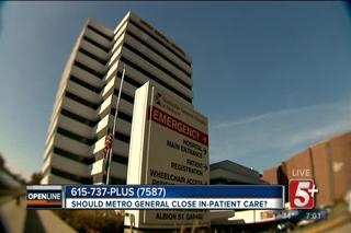 Should Metro General Hospital End In-Patient...