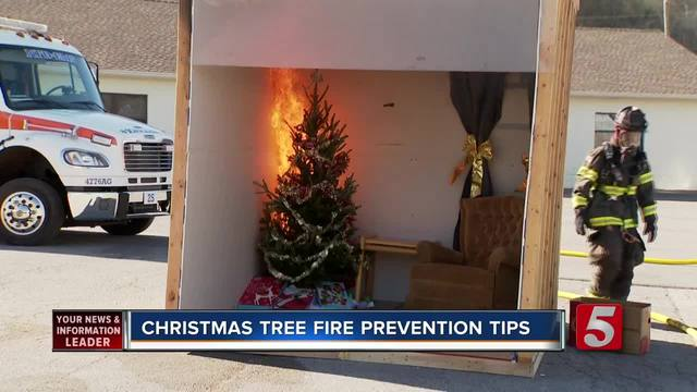 Nashville Fire Dept- Offers Christmas Tree Safety Tips