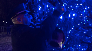 Ornaments Hung In Memory Of Homicide Victims