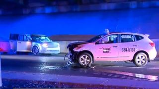 Stolen SUV Runs Red Light, Crashes Into Taxi