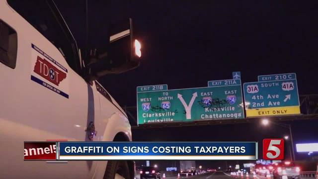 Highway Graffiti Costing Taxpayers Thousands
