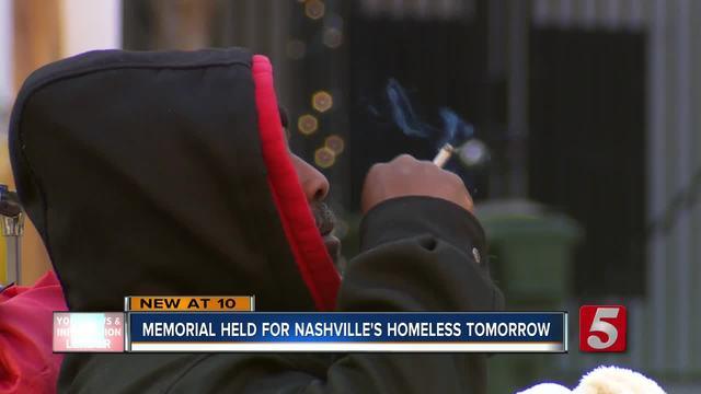 Memorial Held To Remember Nashville-s Homeless
