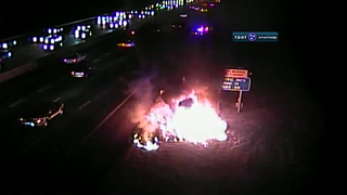 No Injuries Involved In Interstate 24 Car Fire
