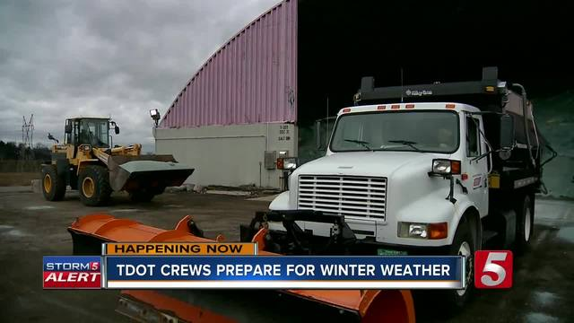 TDOT assures it's all ready to clear snow, ice across state