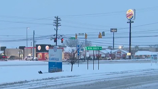 Snow Accumulating On Clarksville Roads