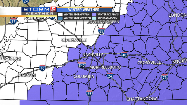 Middle Tennessee Hit With Another Round Of Snow